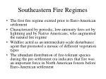 southeastern fire regimes