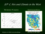 20 th c fire and climate in the west