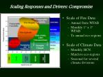 scaling responses and drivers compromise