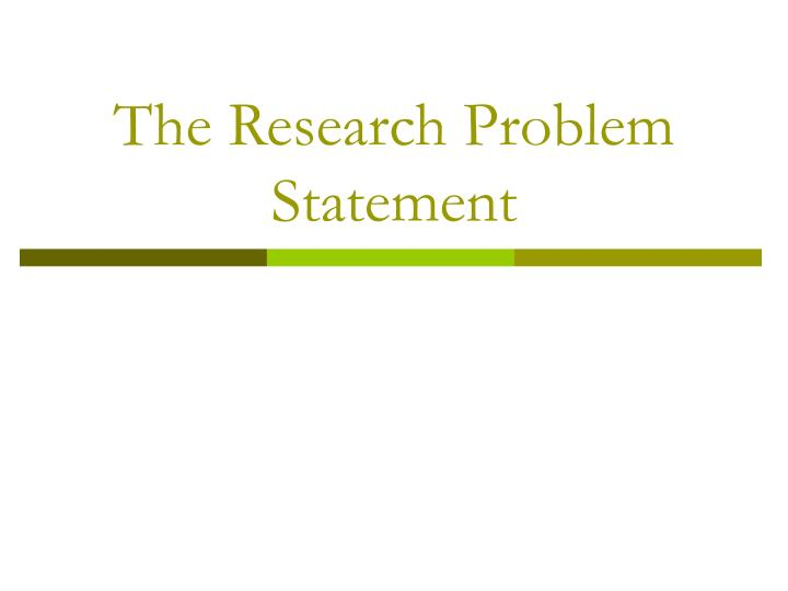 the research problem statement n.