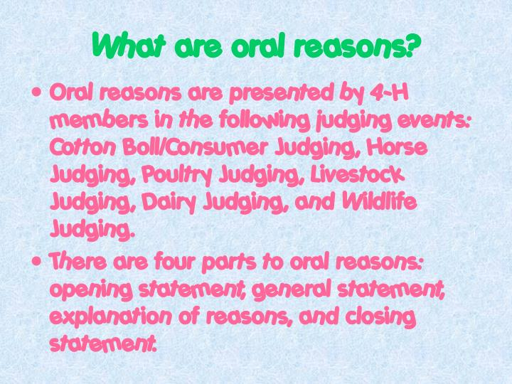 Ppt How To Present Oral Reasons For Georgia 4 H Judging Events