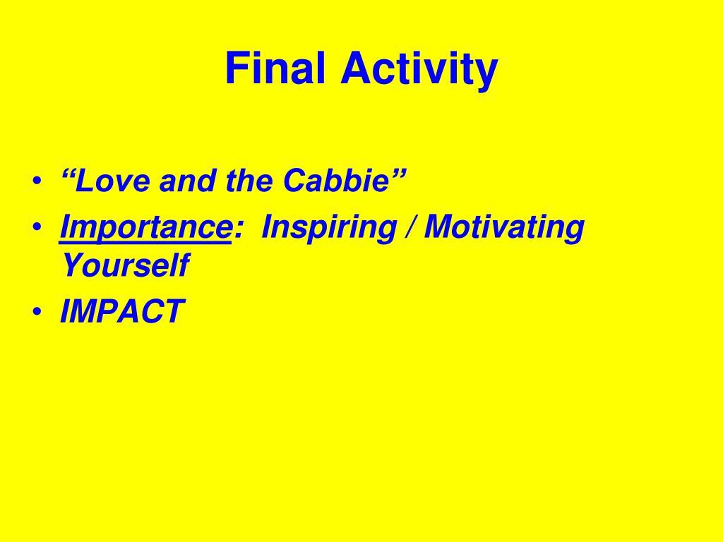 Final Activity