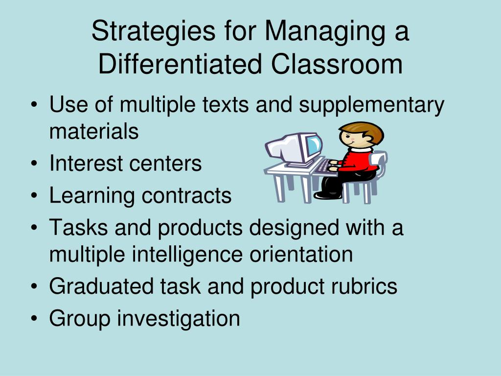 Strategies for Managing a Differentiated Classroom