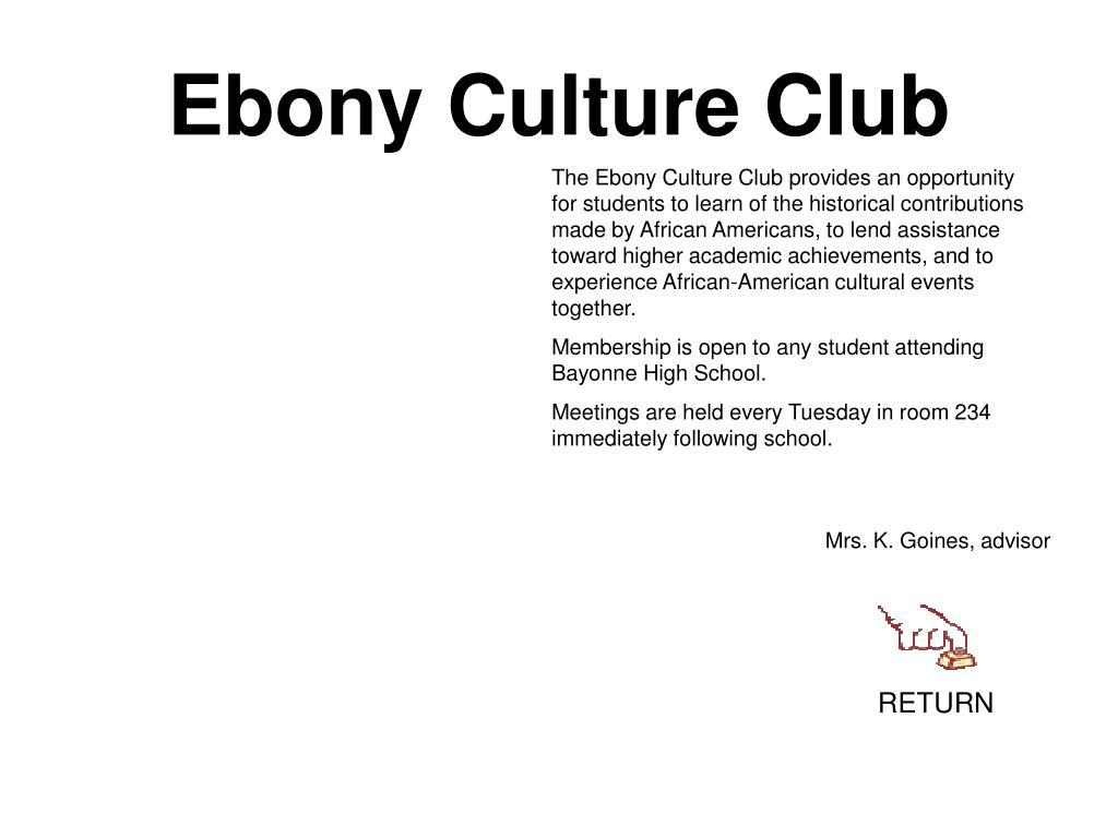 Ebony Culture Club