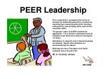 peer leadership