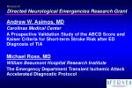 research directed neurological emergencies research grant52