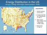 energy distribution in the us source energy information administration 2008