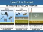 how oil is formed