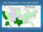 oil production in the usa 2005