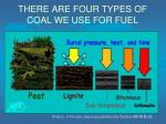 there are four types of coal we use for fuel