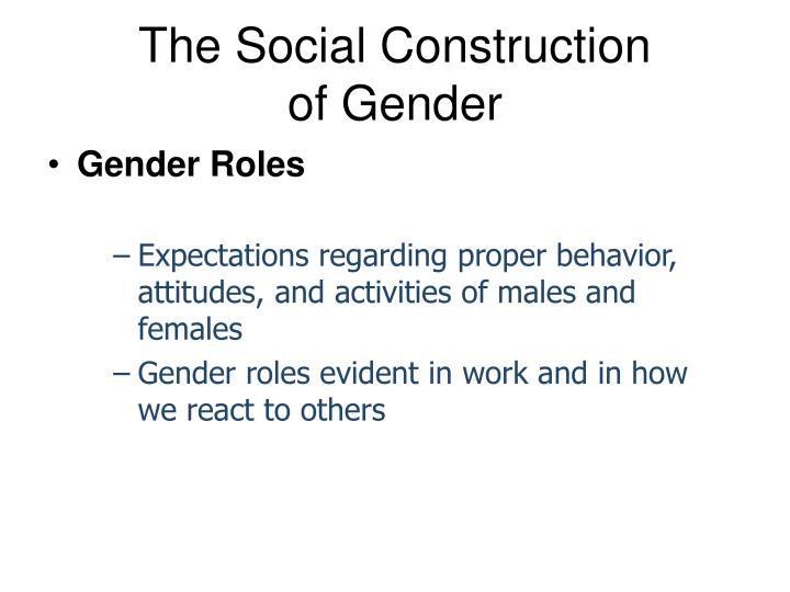 the question of gender role socialization Adolescence, gender, gender socialization, gender equality, media, identity,   gender transformative approaches that actively strive to examine, question, and .