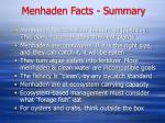 menhaden facts summary