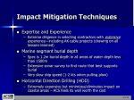 impact mitigation techniques