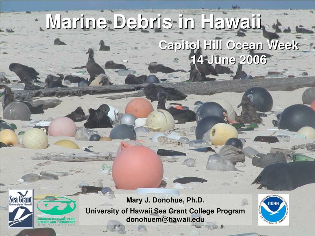 marine debris in hawaii l.