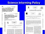 science informing policy