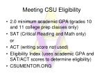 meeting csu eligibility