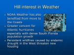 hill interest in weather