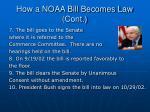 how a noaa bill becomes law cont19