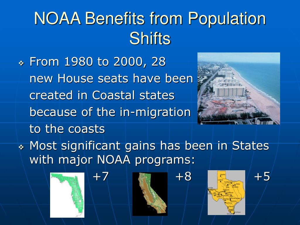 NOAA Benefits from Population Shifts