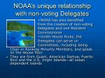 noaa s unique relationship with non voting delegates