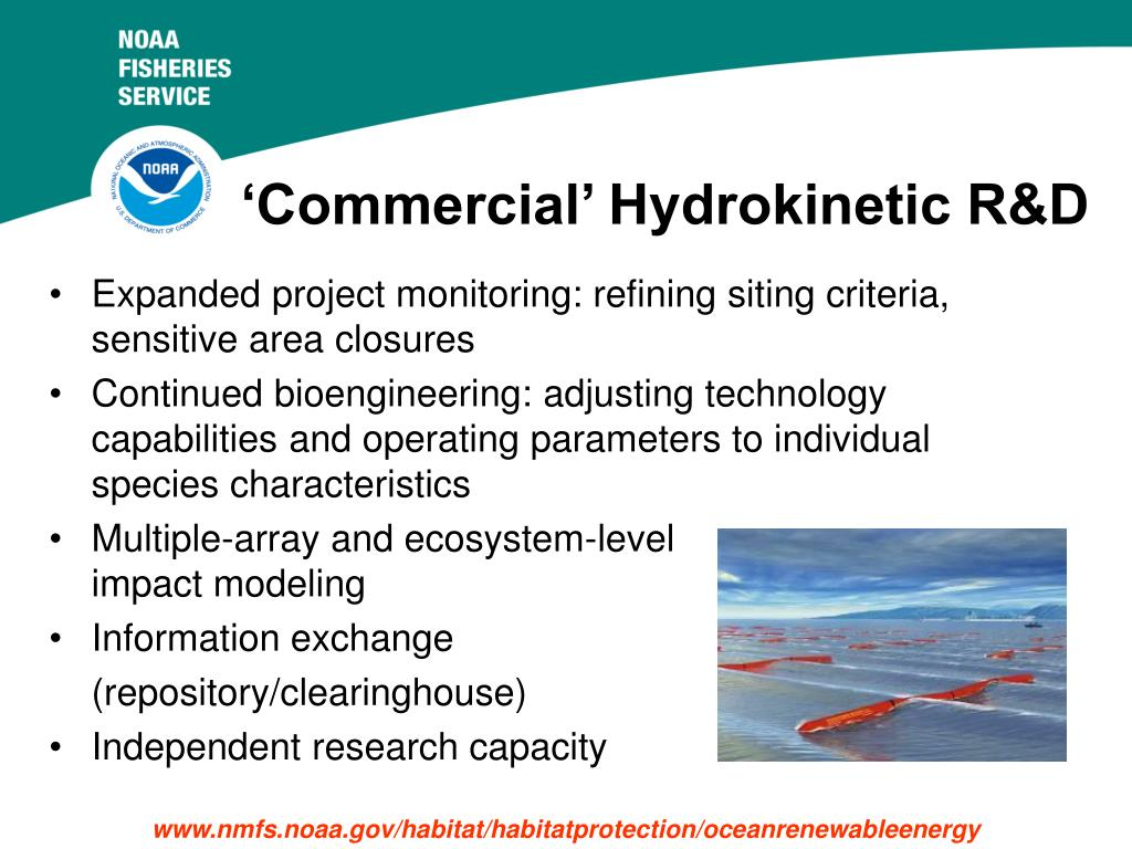 'Commercial' Hydrokinetic R&D