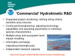 commercial hydrokinetic r d