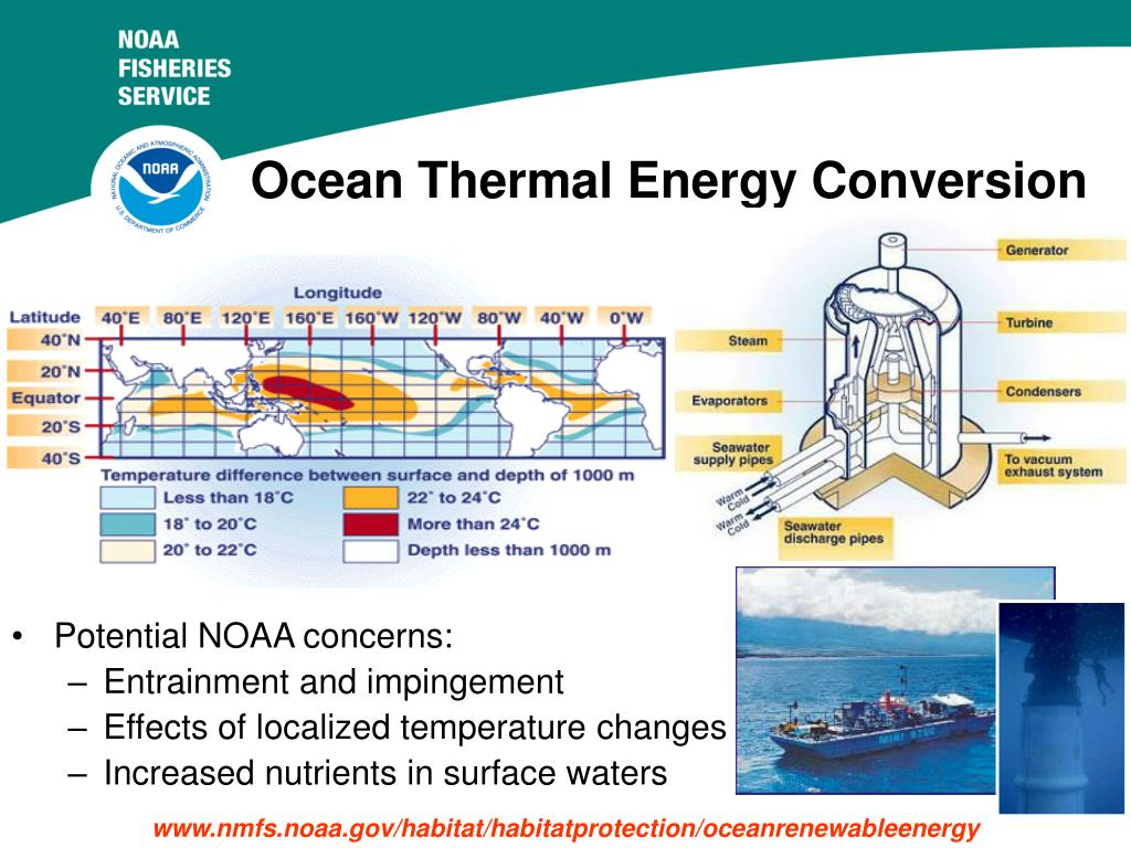 ocean thermal energy conversion otec essay Harnessing ocean temperature chris holt in his 2006 institute of physics prizewinning essay energy the idea of ocean thermal energy conversion.