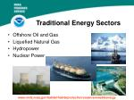 traditional energy sectors