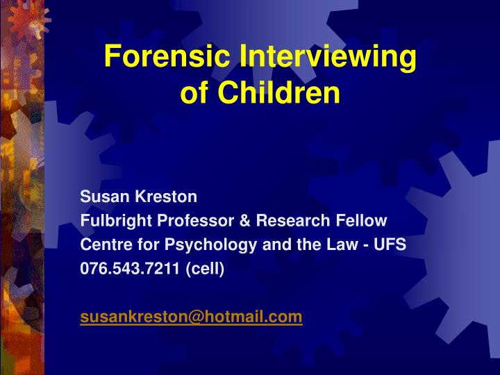 forensic interviewing of children n.