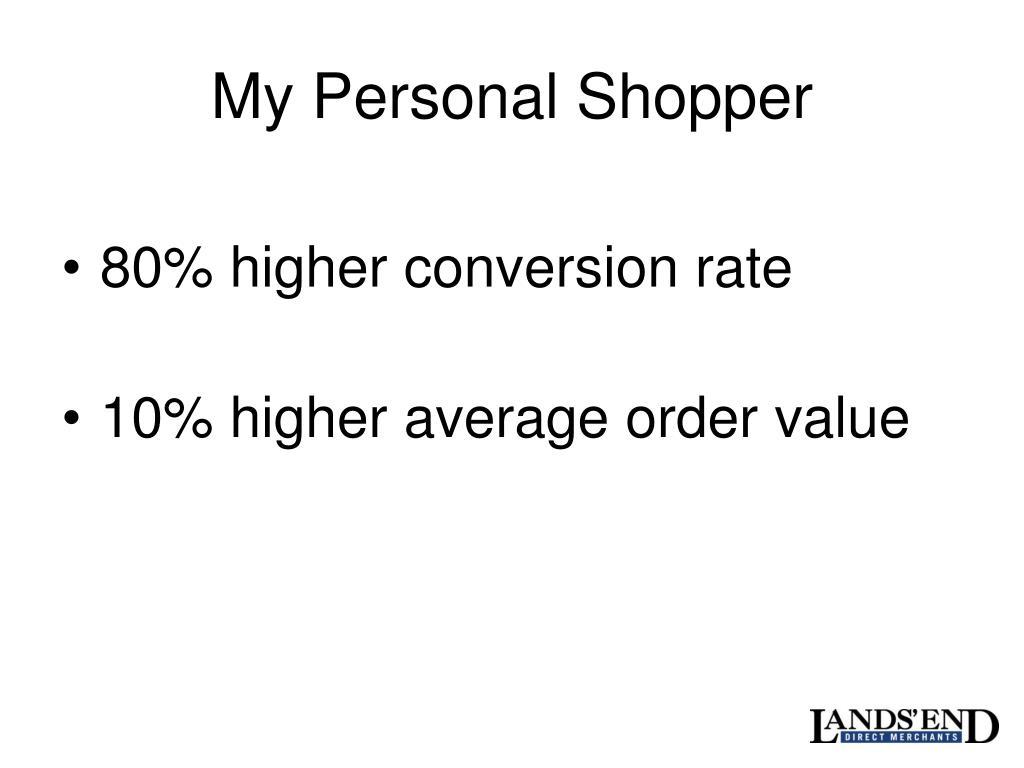 My Personal Shopper