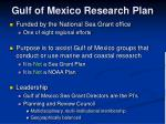gulf of mexico research plan