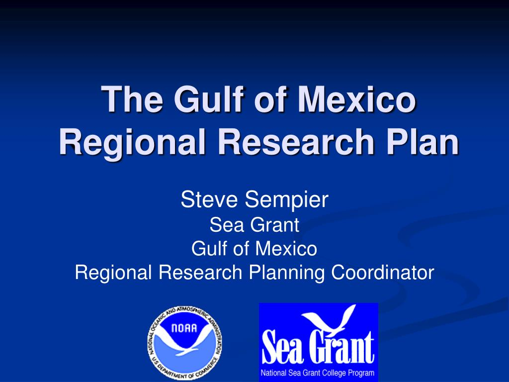 the gulf of mexico regional research plan l.