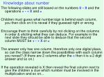 knowledge about number