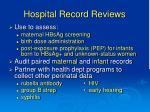 hospital record reviews