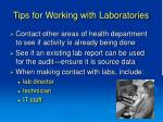 tips for working with laboratories