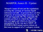 marpol annex ii update