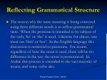 reflecting grammatical structure