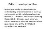 drills to develop hurdlers