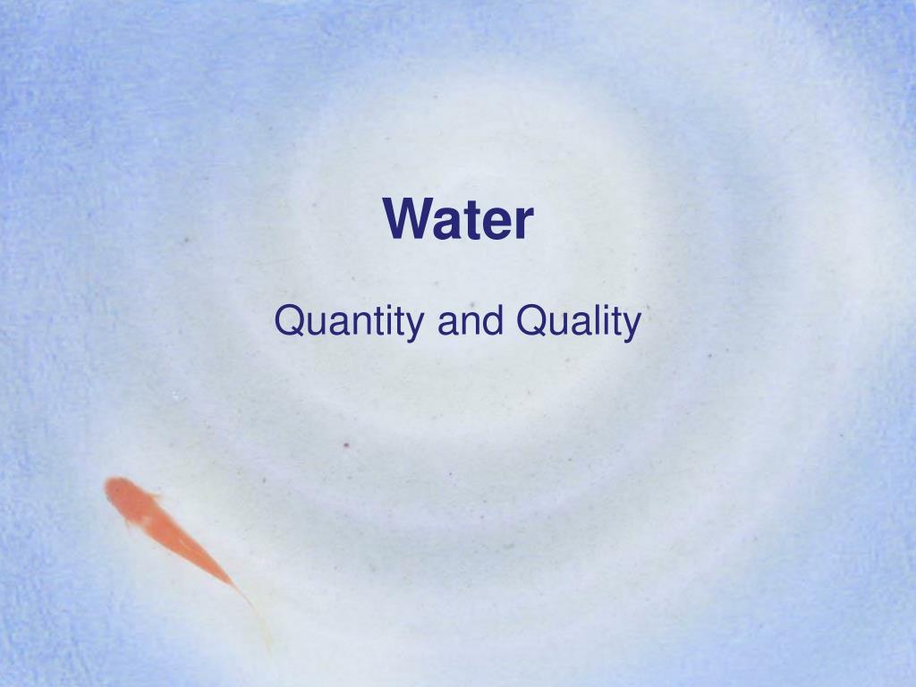 water l.