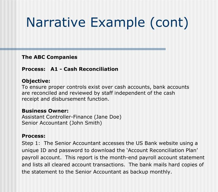 Ppt week 1c powerpoint presentation id405773 narrative example cont accmission Choice Image