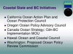 coastal state and bc initiatives