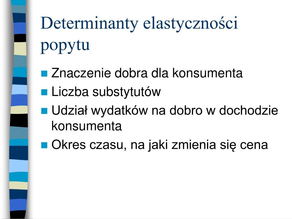 Determinanty elastyczności popytu