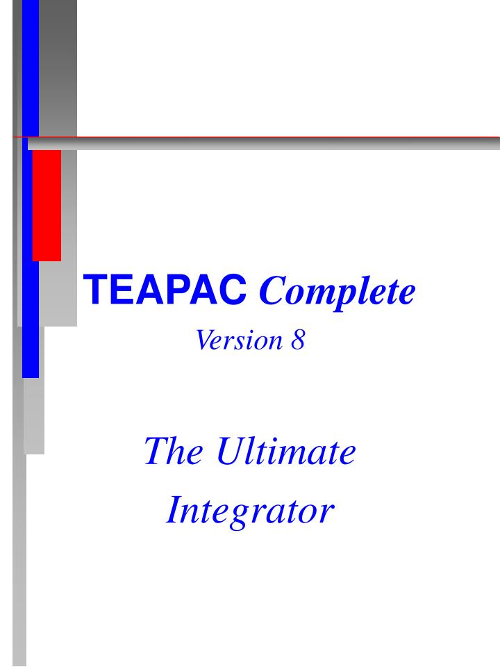 Teapac complete version 8 the ultimate integrator
