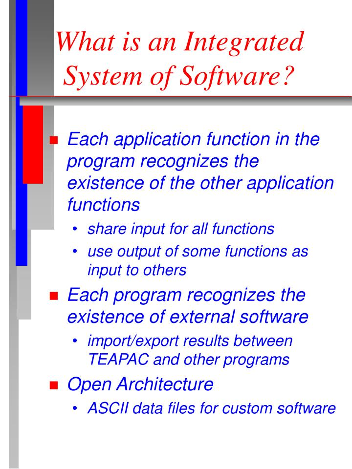 What is an integrated system of software