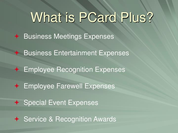 What is pcard plus