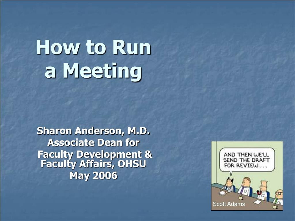 how to run a meeting l.
