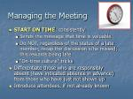 managing the meeting