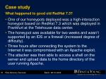 case study what happened to good old redhat 7 3
