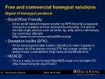 free and commercial honeypot solutions digest of honeypot products