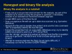 honeypot and binary file analysis binary file analysis in a nutshell